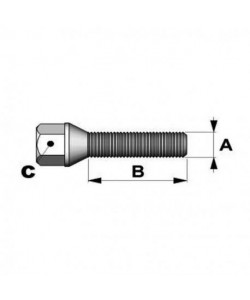 5 x vis noires M14*125 40mm