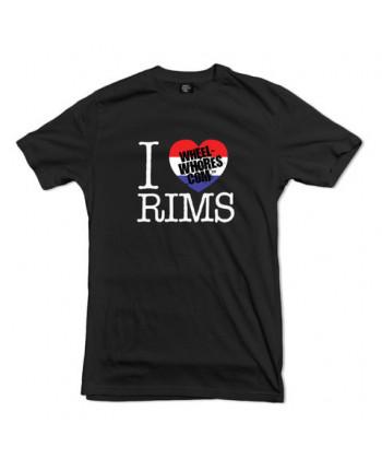 """Tee-shirt Wheel Whores """"I Heart Rims"""""""