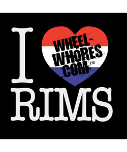 "Tee-shirt Wheel Whores ""I Heart Rims"""
