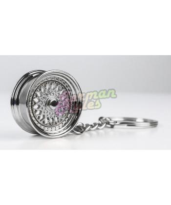 """Porte clé métal """"BBS RS chrome"""""""