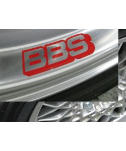 Stickers pour voiles BBS Argent