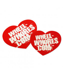 "Sticker Wheel Whores ""Big Red Heart"""