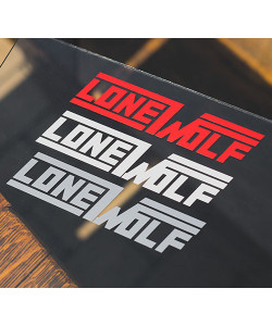 3 stickers Lonewolf